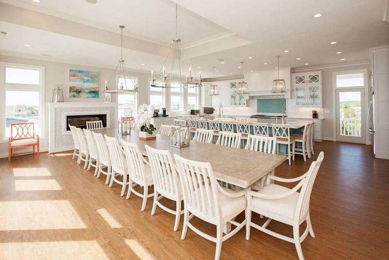 A living room in a Sandbridge vacation rental